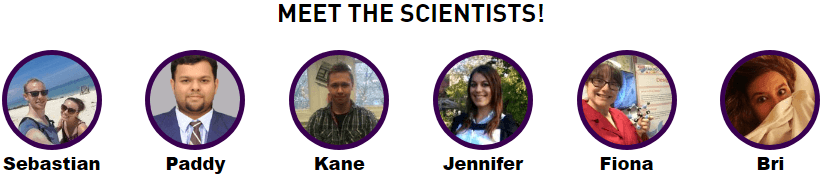 Photos of the six scientists taking part in the zone.